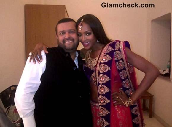 Naomi Campbell in indian attire Manav Gangwani Jodhpur