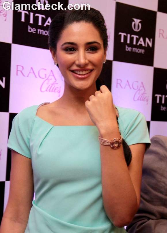 Nargis Fakhri Launches Titans Latest Watch Collection