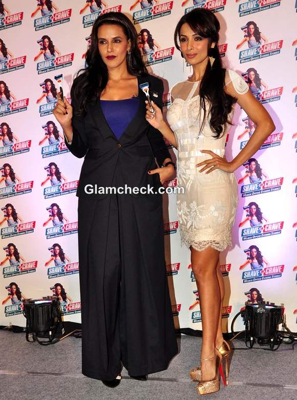Neha Dhupia Malaika Arora Khan attend the Gillette Shave or Crave Event