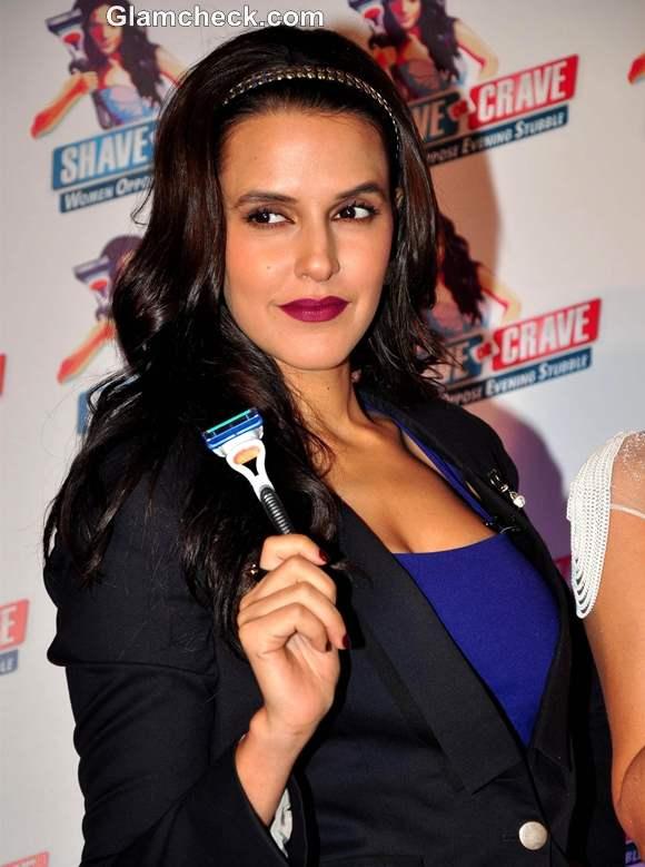 Neha Dhupia promotes Gillette Shave or Crave