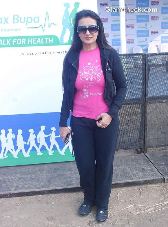 Poonam Dhillon Max Bupa Walk for Health in Mumbai