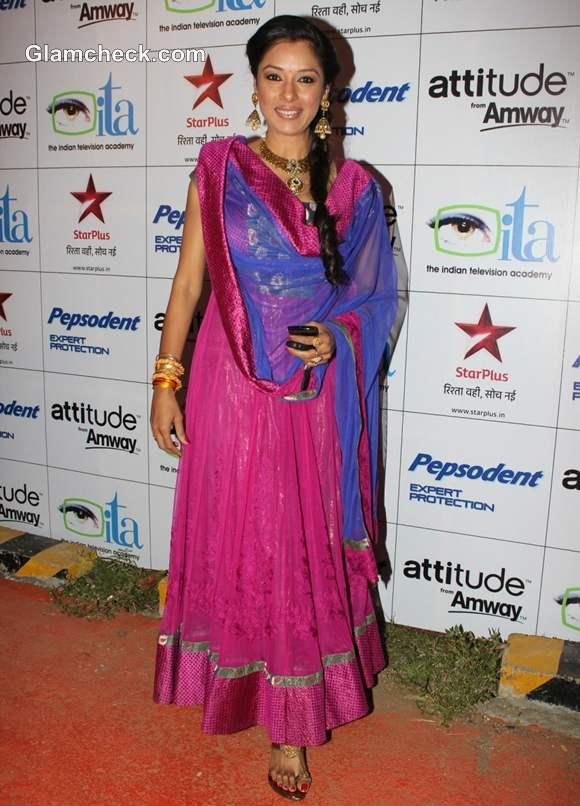 Rupali Ganguly  Indian Television Awards 2012 Mumbai