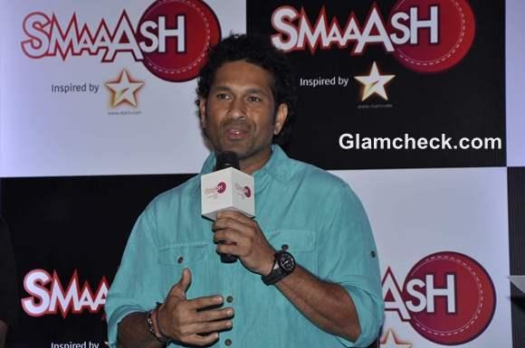 Sachin Tendulkar inauguration of SMAASH entertainment centre Phoenix Mill in Mumbai