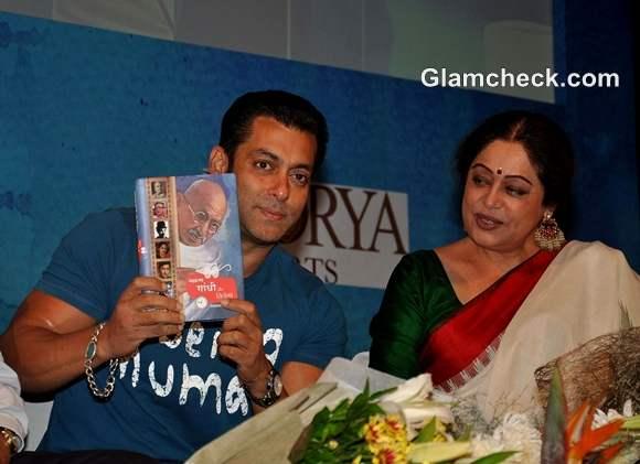 Salman Khan Launches New Book About Gandhi