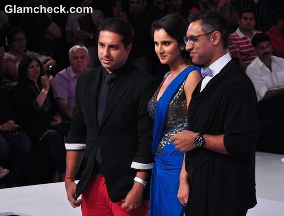 Sania Mirza for Shantanu Nikhil at Blenders Pride Fashion Week 2012 mumbai