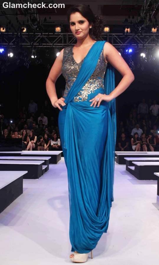Sania Mirza for Shantanu Nikhil at Blenders Pride Fashion Week 2012