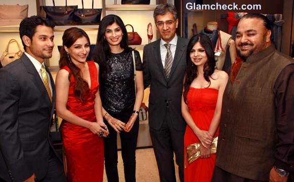 Soha Ali Khan Kunal Kemu JJ Vallaya Saba Ali Khan Attend Bally Boutique Launch AW collection