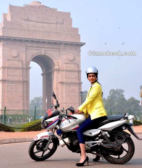 Sonam Kapoor India Gate women wear helmets two-wheelers