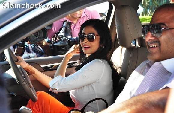Sridevi And Boney Kapoor Ride The 100th Porsche Suv