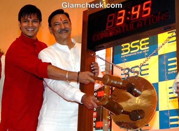 Suresh Vivek Oberoi Bombay Stock Exchange on Diwali Day