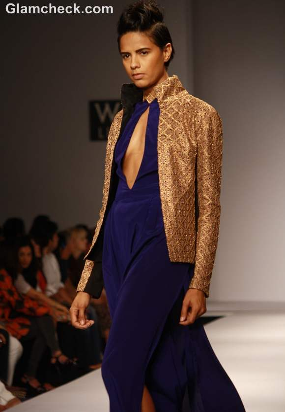 Wearing embellished jacket with gowns