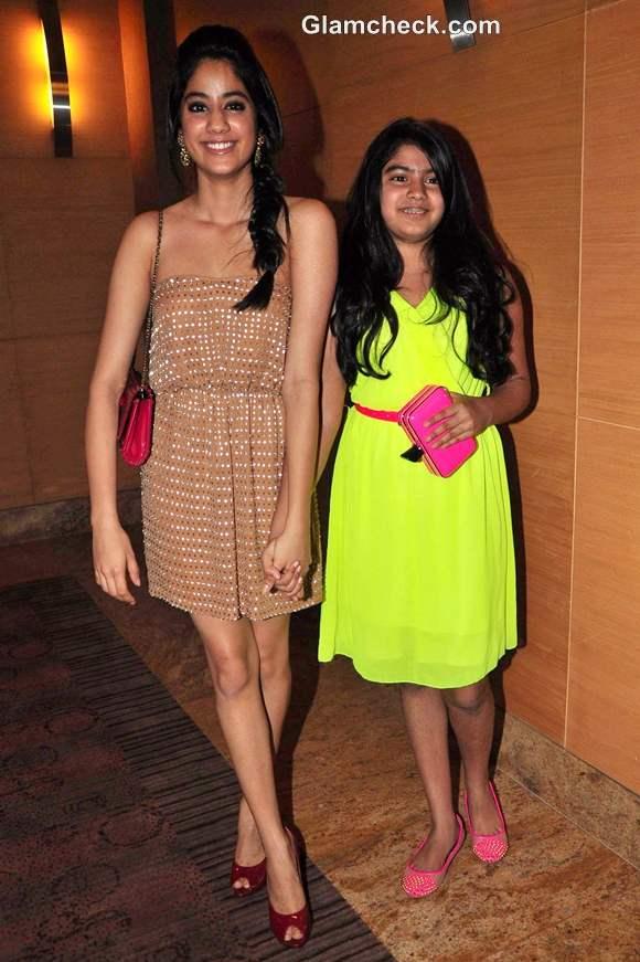jhanvi khushi kapoor sridevi daughters Blenders Pride Fashion Tour 2012
