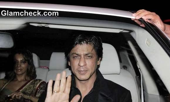 sharukh khan at amitabh Bachchan Diwali Bash