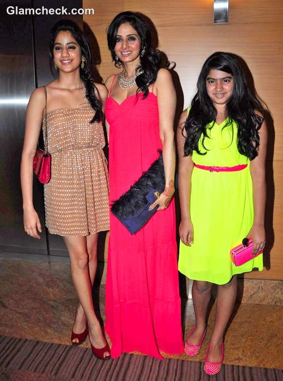 sridevi with daughters Blenders Pride Fashion Tour 2012