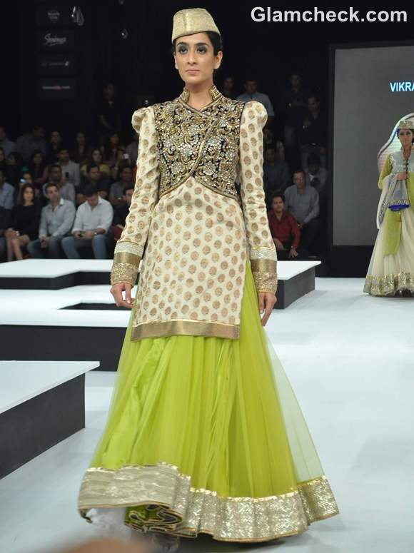 wearing embellished jackets with lehnga