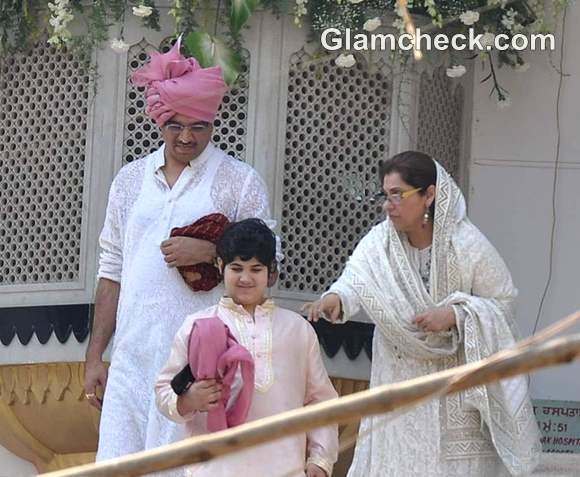 Akshay and Twinkles son Aarav
