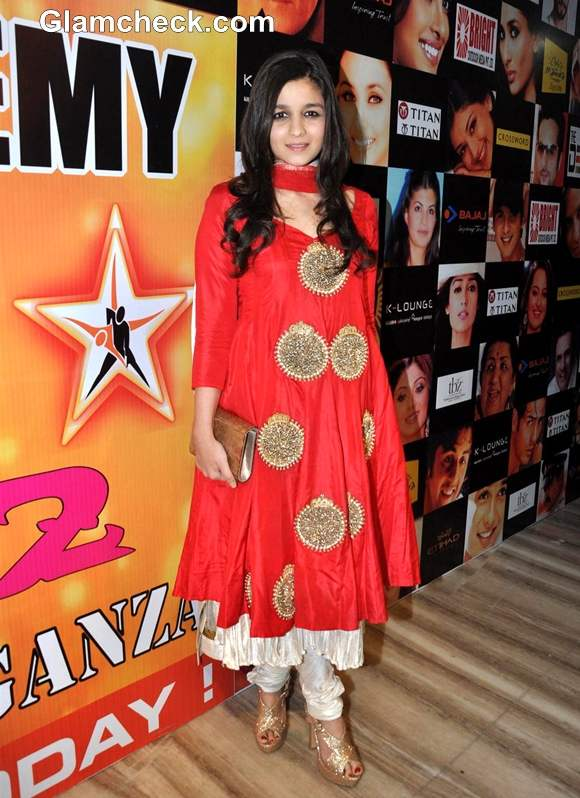 Alia Bhatt In traditional anarkali dress Star Dance Academy Annual Function