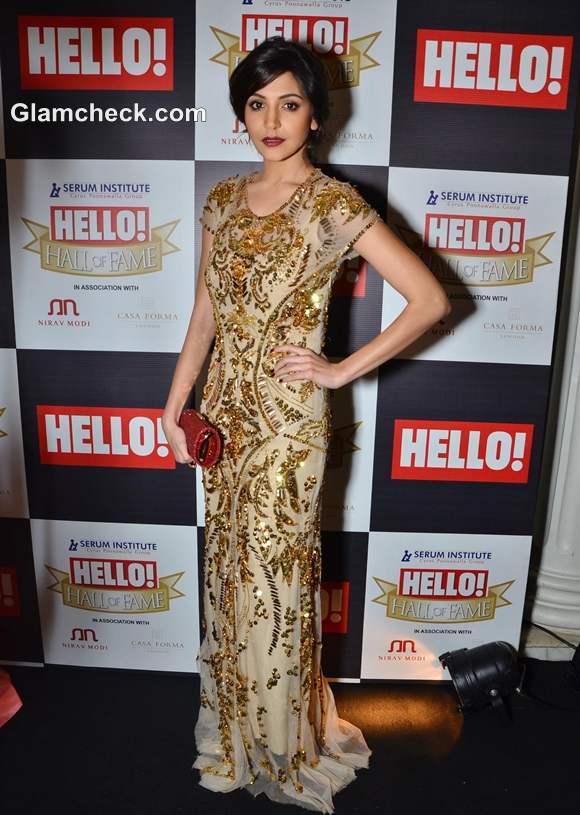 Anushka Sharma at Hello Hall of Fame Awards 2012