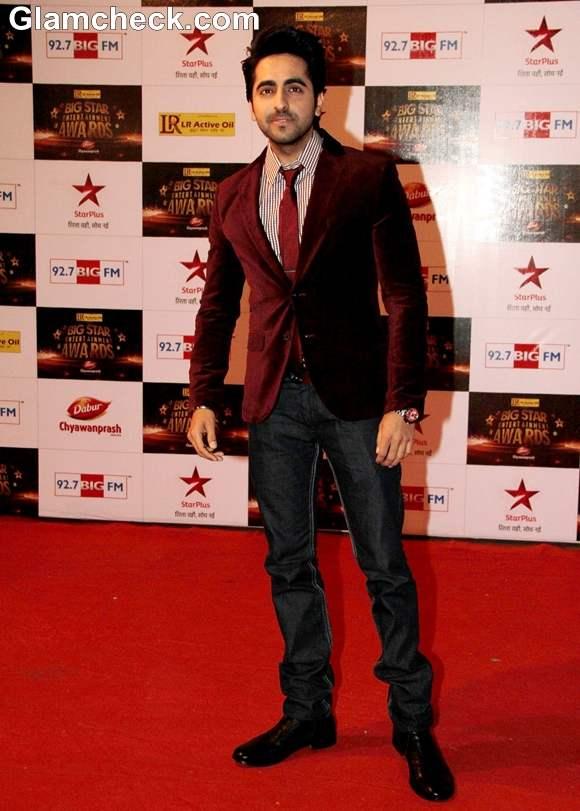 Ayushmann Khurrana at The Big Star Entertainment Awards 2012