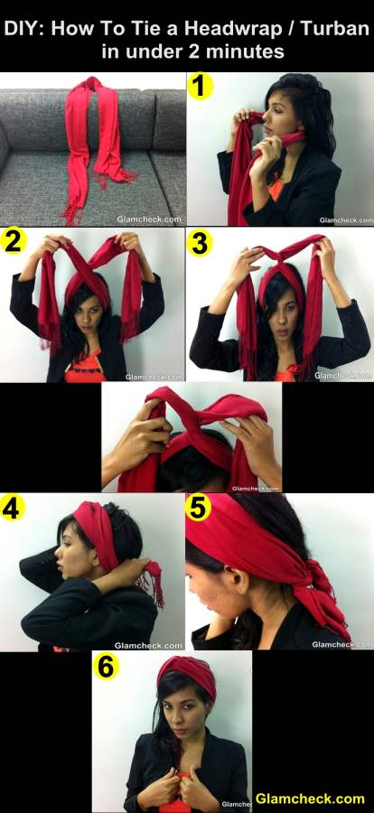 DIY How to Tie Turban headwrap in under 2 minutes