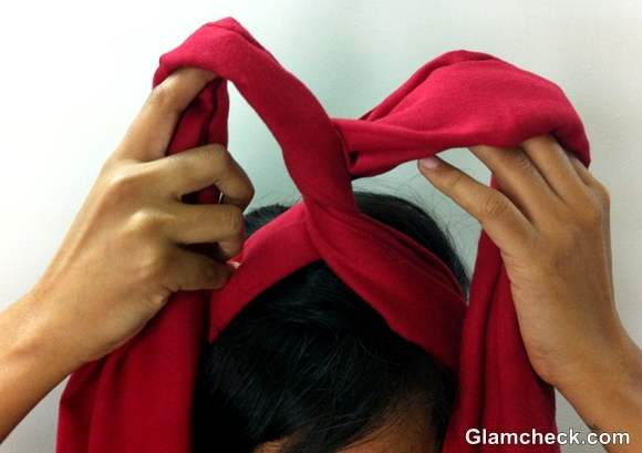 DIY How to Tie a Headwrap Turban-step-4