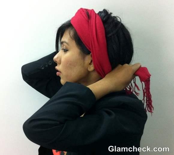 DIY How to Tie a Headwrap Turban-step 5
