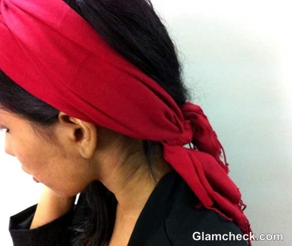 DIY How to Tie a Headwrap Turban-step 6