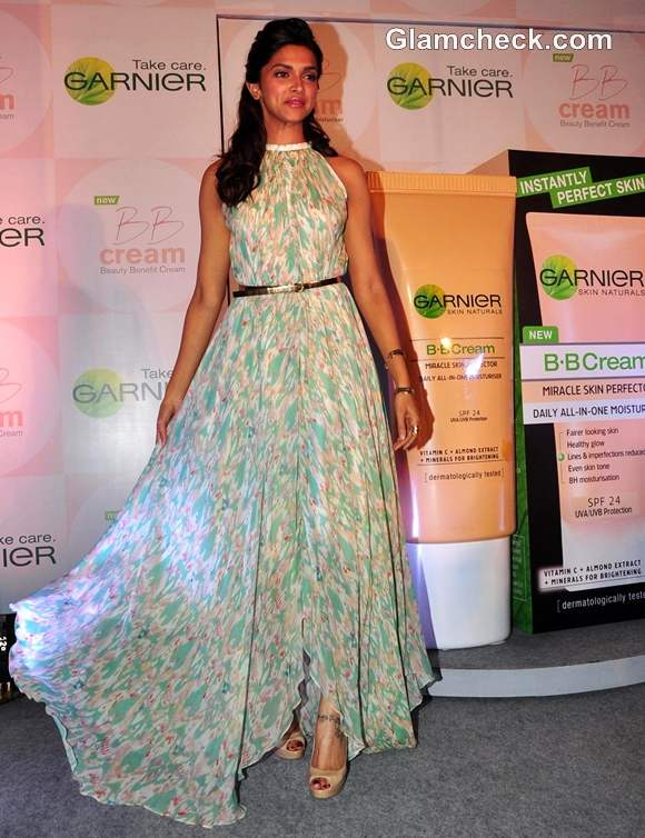 Deepika Padukone At A Press Conference To Launch New BB Cream