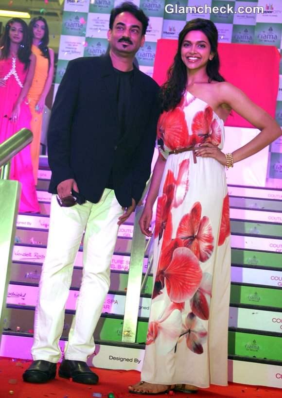 Deepika Padukone Wendell Rodricks at Fiama Di Wills Couture Spa Range Launch
