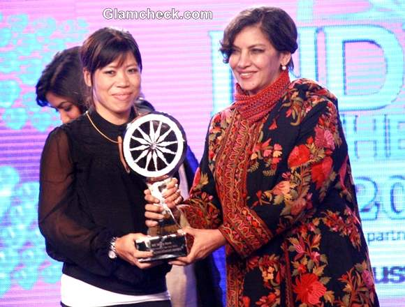 Indian boxer Mary Kom at the CNN-IBN Indian of the Year 2012 awards