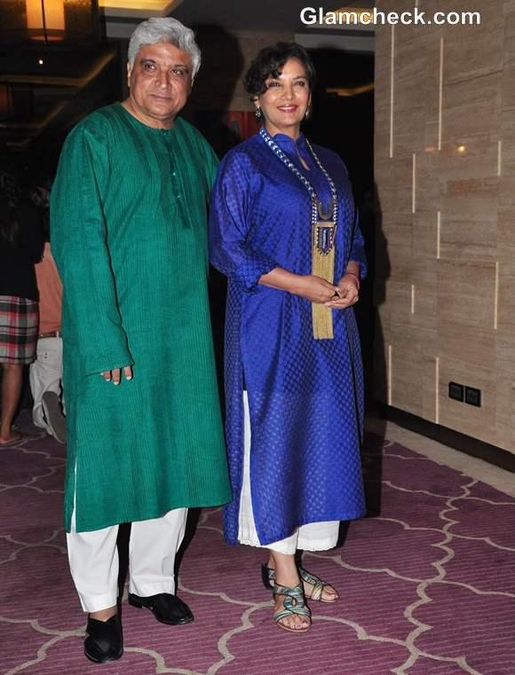 Javed Akhtar and Shabana Azmi At The Success Party Of Talaash