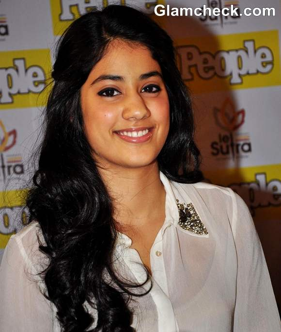 Jhanvi Kapoor daughter of Sridevi at the unveiling of People Magazine december 2012 issue