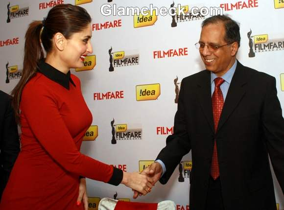 Kareena Kapoor at 58th annual Filmfare awards press meet