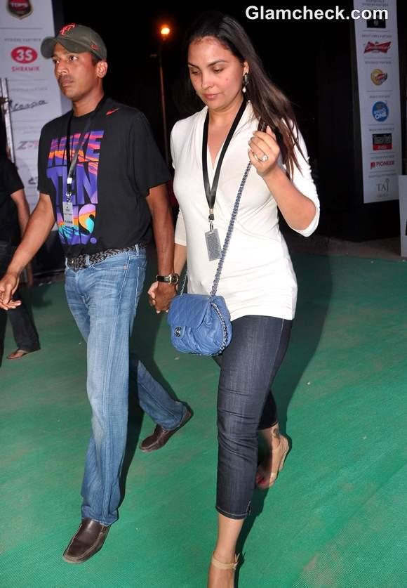 Lara Dutta Mahesh Bhupathi at Gun N Roses concert Bandra Mumbai
