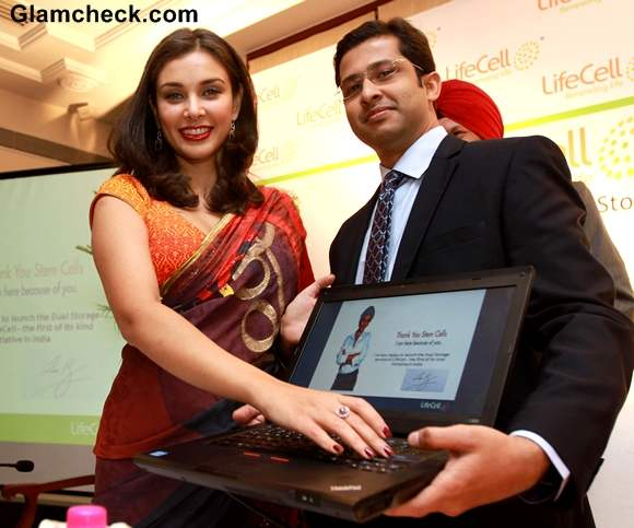 Lisa Ray Inaugurates LifeCell Stem Cell City with ceo lifecell