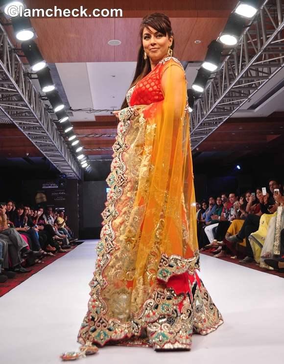Mahima Choudhary walked The Ramp For Designer Mohit Falod
