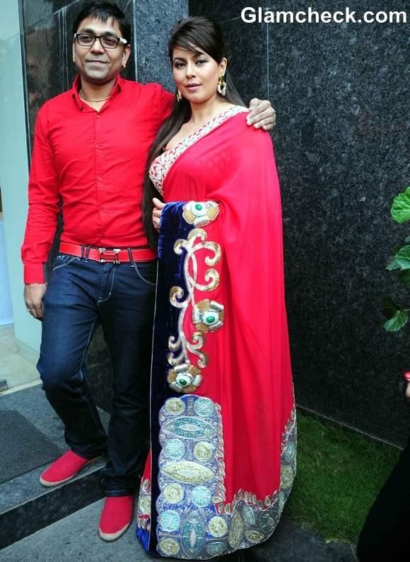 Mahima Choudhary with Designer Mohit Falod