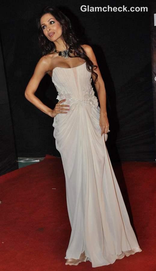 Malaika Arora Khan gown at Colors Golden Petal Awards 2012