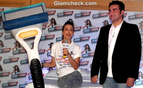 Malaika Arora Khan launchs gillet Shave or Crave in Mumbai