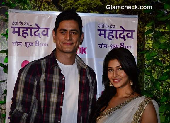 Mohit Raina and Sonarika Bhadoria on the sets on Devon Ke Dev Mahadev