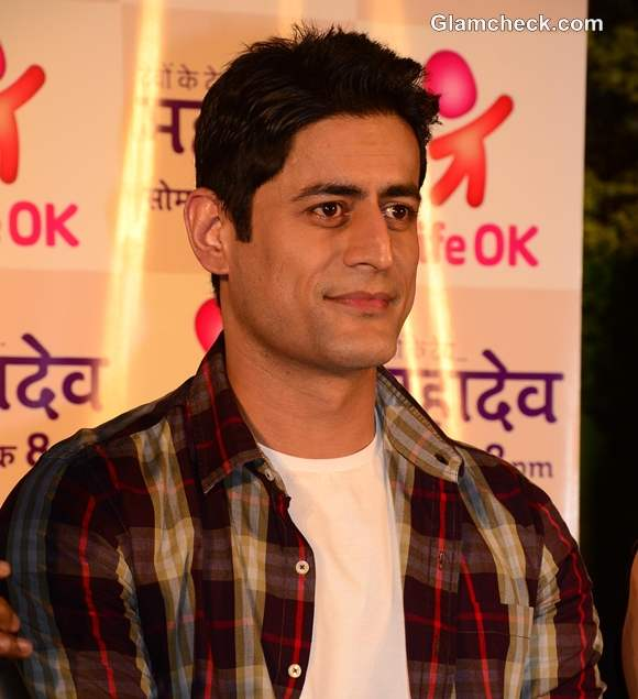 Mohit Raina on the sets on Devon Ke Dev Mahadev