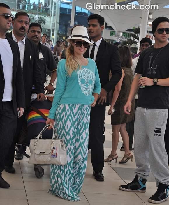 Paris Hilton Arrives in Mumbai