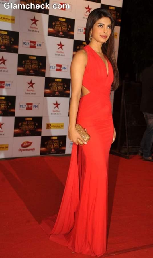 Priyanka Chopra at the BIG Star Entertainment Awards 2012