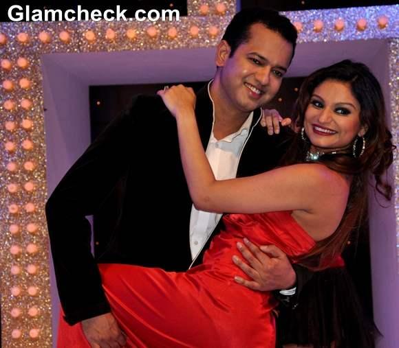 Rahul Mahajan with wife Dimpy Mahajan Nach Baliye Season 5 Contestant