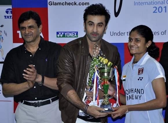Ranbir Kapoor at Tata Open India International Challenge 2012