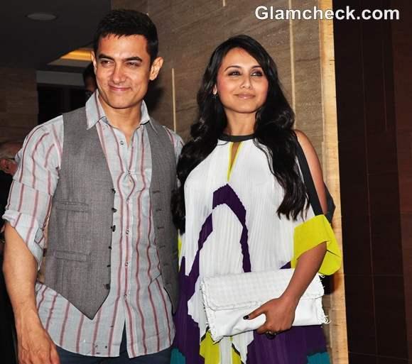 Rani Mukherjee amir khan At The Success Party Of Talaash