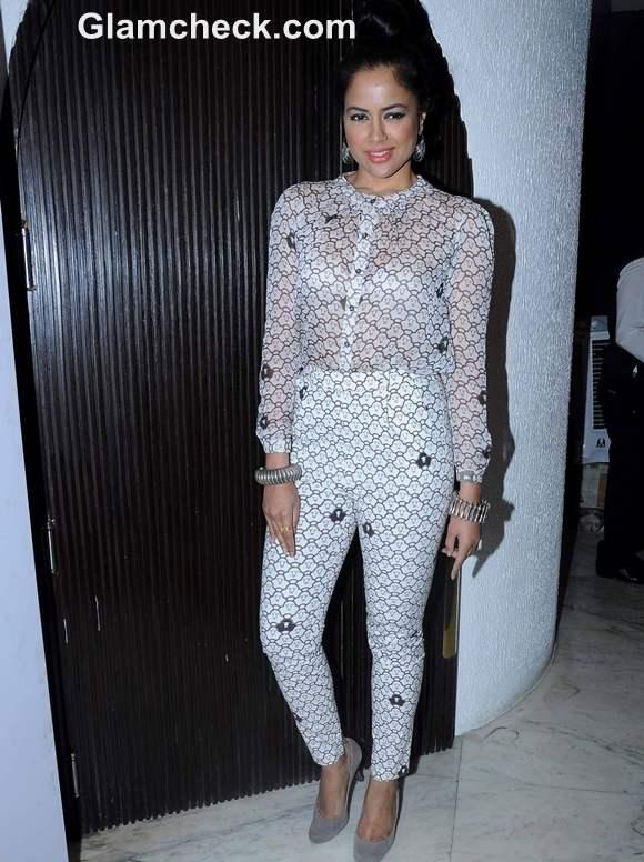 Sameera Reddy Attends Hi Blitz Magazine Bash Mumbai