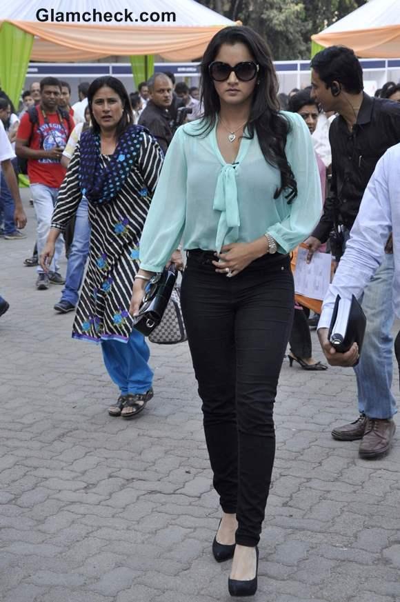 Sania Mirza The Times of India Literary Carnival in Mumbai