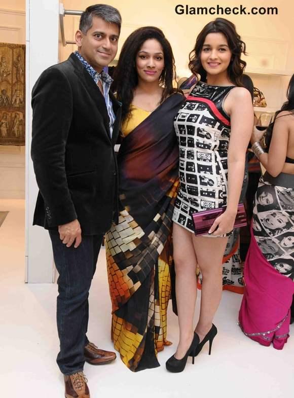 Sanjay Kapoor Masaba Gupta Alia Bhatt at Masaba as Satya Paul director announcement in Mumbai
