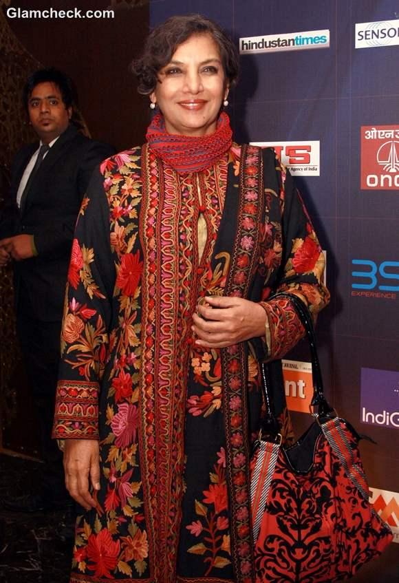 Shabana Azmi at the CNN-IBN Indian of the Year 2012 awards in Delhi